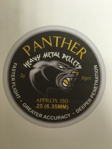 """300 Airforceonetm Panther /""""heavy metal/' Air Rifle Pistolet Munitions pellets.25"""