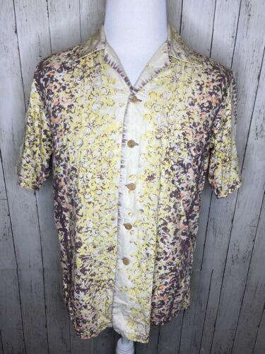 Vintage 1940's Shirt Made Medium Sleeve Aloha Kame