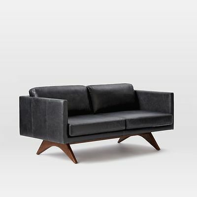 Swell West Elm Brooklyn Leather Sofa In Licorice Ebay Unemploymentrelief Wooden Chair Designs For Living Room Unemploymentrelieforg