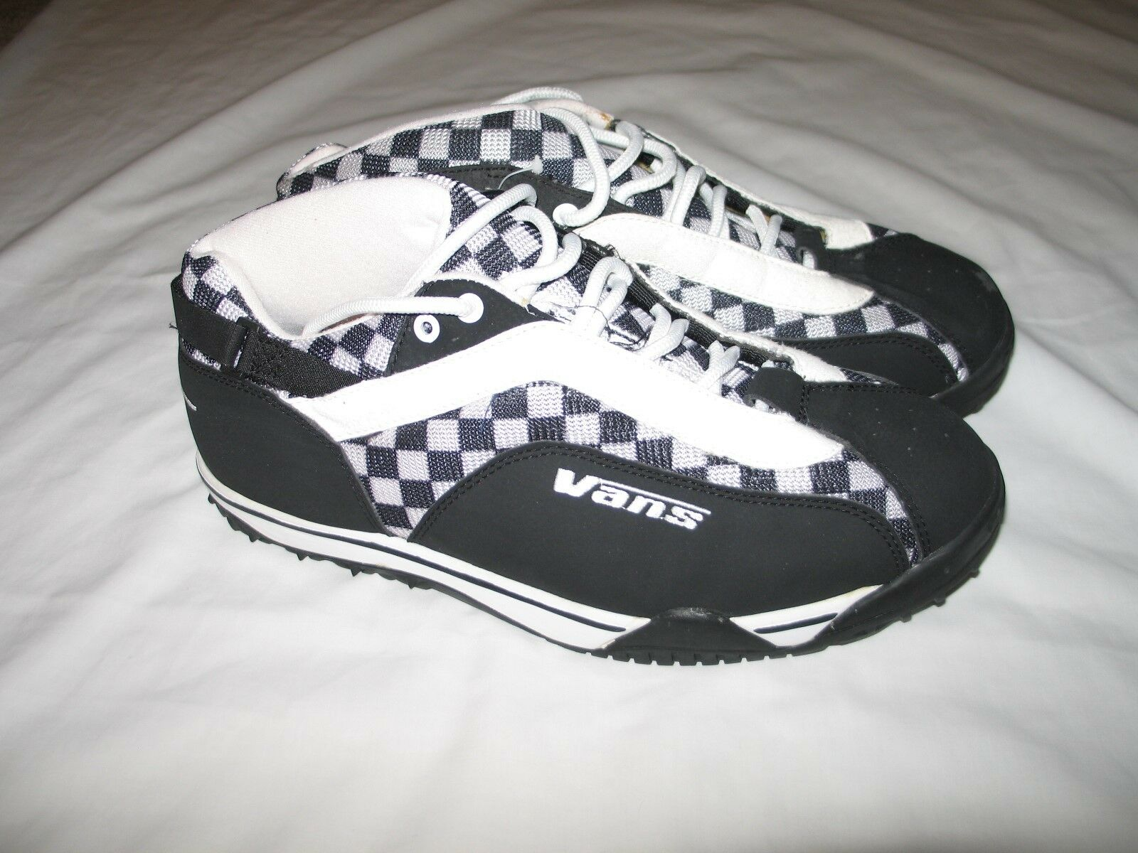 1997 VANS Dualist SPD Mtn. Biking Collector's Shoes Black & White Checker RARE!