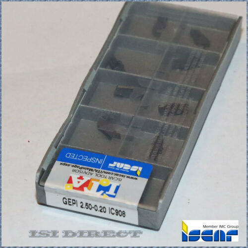 GEPI 2.50-0.20 IC908 ISCAR *** 10 INSERTS *** FACTORY PACK ***