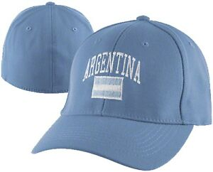 Argentina-1Fit-Flex-Hat-Light-Blue-Tennis-Soccer-Basketball-Olympics-NEW