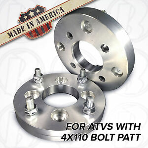 2-USA-MADE-ATV-1-034-Honda-450r-400ex-300ex-z400-Wheel-Spacers-4x110-to-4-110