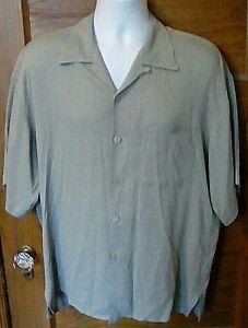 EUC-Baracuta-Gray-Camp-Casual-Short-Sleeve-Buton-Front-Shirt-Large-L-USA-Made-FS