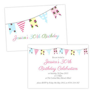Personalised-birthday-party-invitations-FLORAL-BIRTHDAY-SHABBY-CHIC-BUNTING-FREE