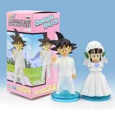 Dragon Ball Son Goku/Gokou ChiChi Wedding PVC Figure Toys 8cm 2pcs/set
