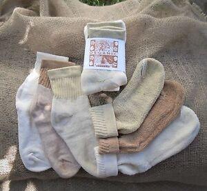 Organic-Threads-Colorgrown-Organic-Cotton-Short-Top-Socks-NEW-Made-in-USA