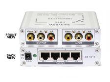 Composite Video Audio Extender over CAT5 Transmitter Splitter Repeater SB-6345T
