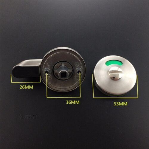304 Acier Inoxydable Salle de Bain Toilette Porte Indicateur Verrou Tournant Loqueteau de fermeture 53 mm