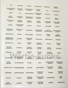 Details Zu 108 Transparente Gewürzetiketten Etiketten Gewürze Aufkleber Gewürzaufkleber