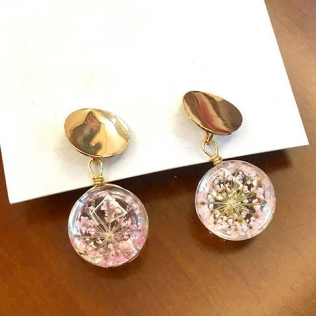 Korean fashion temperament wild sequins glass ball earrings women fashion charm