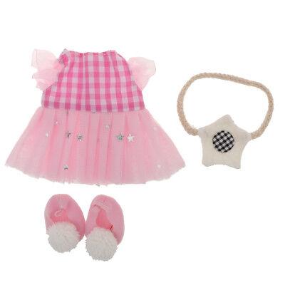 Cute Clothing Lace Dress Skirt Headwear Sockings Set For 25cm Mellchan Doll