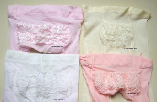BABY GIRLS LACE FRILLY BUM NYLON TIGHTS WHITE CREAM PINK CHRISTENING WEDDING
