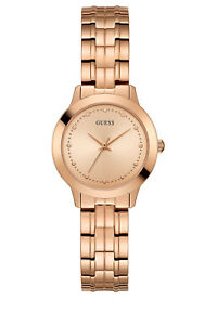 NEW-Guess-W0989L3-Chelsea-Watch-Rose