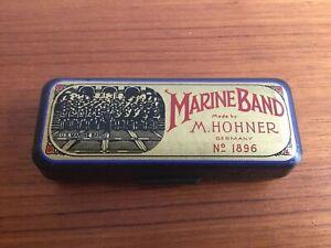 Coffret M. Hohner Marine Band édition Limitée (1986-1996) Gold Tone Harmonica-afficher Le Titre D'origine