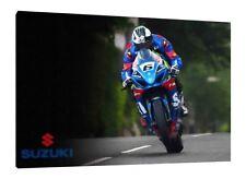 2017 Michael Dunlop - 30x20 Inch Canvas Print Isle of Man TT Suzuki GSXR-1000