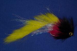 Predator Zonker Pike, Muskie, Bass Streamer white red