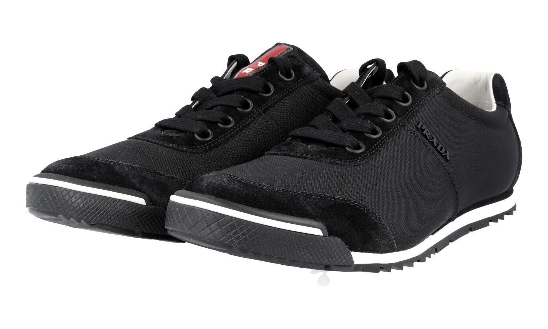 LUXUS PRADA SNEAKER Zapatos 41,5 4E2834 Negro NEU NEW 7,5 41,5 Zapatos 42 53fd93