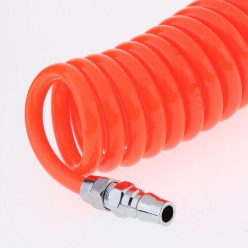 20ft Orange RECOIL COILED PNEUMATIC RE-COIL COIL AIR COMPRESSOR HOSE