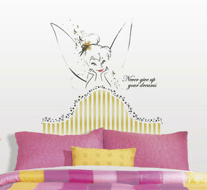 online store bcfdc c785d Details about TINKER BELL HEADBOARD GiaNT WALL DECALS Disney Fairies  Tinkerbell Stickers Decor