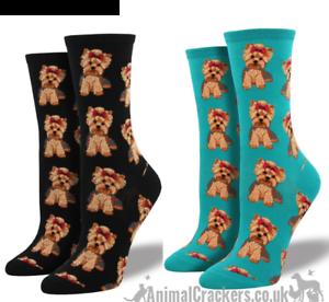 Da Donna Socksmith Yorkshire Terrier Calzini taglia Unica SCUDERIA amante Stocking Filler