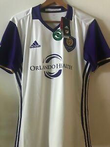 MLS-Orlando-City-SC-2016-White-Away-Jersey-by-Adidas-new-with-tags-size-medium