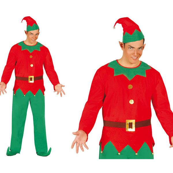Guirca Costume Elfo Aiutante Babbo Natale Carnevale Uomo adulto Mod. 42413  T.u  66b92a65a1b4