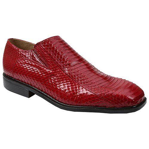 Giorgio Brutini para hombre Zapatos Plain Toe Zapatos hombre Sin Cordones Piel De Serpiente Go W-Pick Talla/color. 0bab26