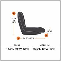 Classic Accessories 12324 Deluxe Riding Lawn Mower Seat Cover, Medium , New, Fre on sale
