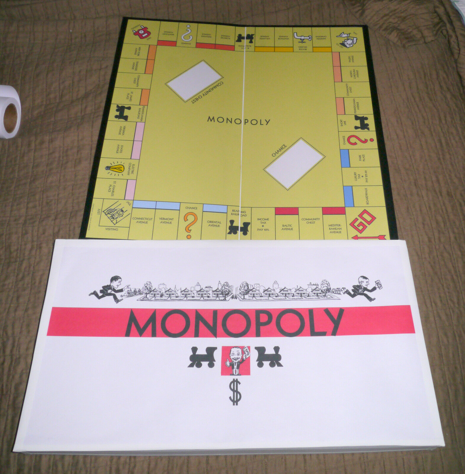 Darrow White Box 1934 Style Reproduction Reproduction Reproduction Monopoly Game Set Complete c28691