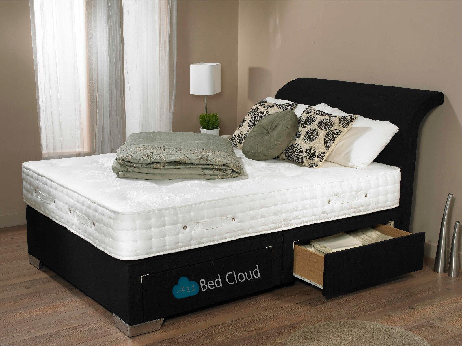 Utopia 3ft Single Divan Bed With Free Memory Foam Mattress And Curve Headboard Ebay