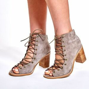ea598bdd7 Image is loading NEW-JEFFREY-CAMPBELL-CORS-TAUPE-SUEDE-PEEP-TOE-