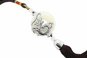 Beautiful-Jade-Round-Coin-with-Silver-Color-Dragon-Brown-Tassel-14-034