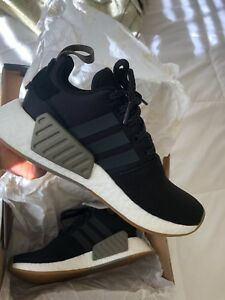 e319585e360 Details about Adidas NMD R2 Black Gum / BY9917 / Men Boost PK Knit Mesh  Core Khaki Trace Cargo