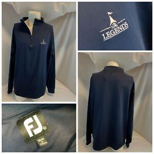 FootJoy-Golf-Pullover-XL-Hommes-Bleu-1-4-Zip-Nylon-Legends-St-Louis-ygi-C0-692