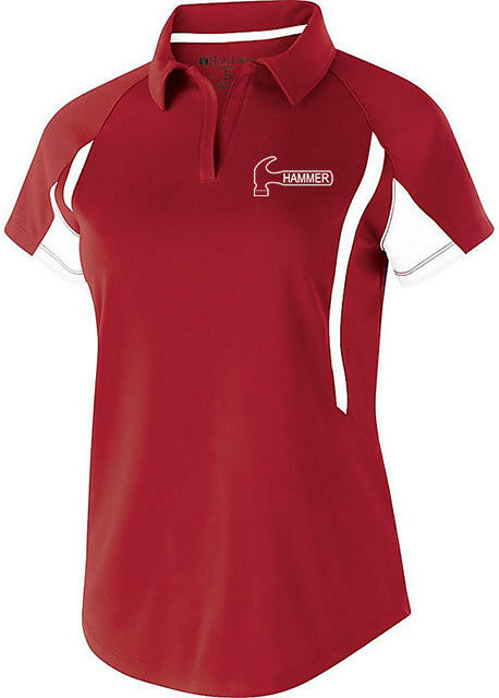 Hammer Women's Reaper Performance Polo Bowling Shirt Scarlet Dri-Fit Comfort