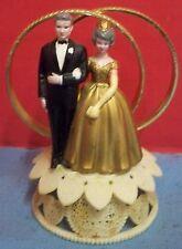 Vintage Wilton Cake Topper 50th Golden Anniversary Gold Rings Gray Hair 1980s