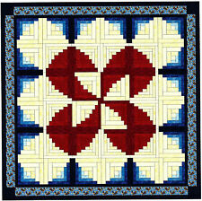 Quilt Kit/Ruby Reel Patriotic Log cabin/Pre-cut Fabrics Ready To Sew/EXPED ****
