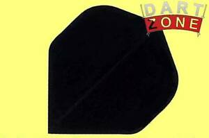 NEW-5-SETS-15-INDIVIDUAL-BLACK-POLY-PLAIN-STANDARD-SHAPE-FLIGHTS-F0002