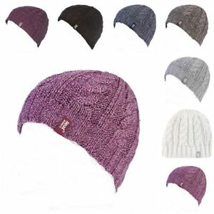 Heat-Holders-Femme-chaud-hiver-froid-polaire-fourre-tricoter-chapeau-thermique