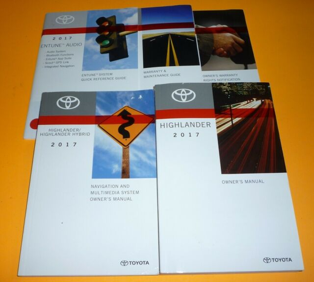 Toyota Highlander 2017 Owners Manual Manual Guide