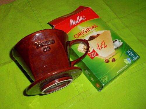 Tassenfilter NEU Größe 1 x 2 Braun mit Melitta Filter Porzellan Kaffeefilter