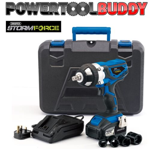 Draper 01031 82983 Storm Force Impact Wrench 1 x 20volt Li-ion Battery