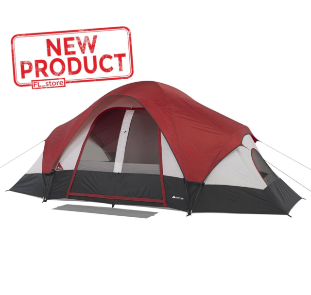 Ozark Trail WMT141681D 8-Person Modified Dome Tent - Red ...