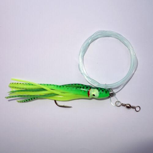 Deep Drop Tilefish Fishing Rig 7//0 Circle Hooks with Squid