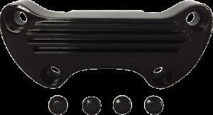 "Drag Specialties Black Finned 1/"" Handlebar Top Clamp for 99-17 Harley Davidson"