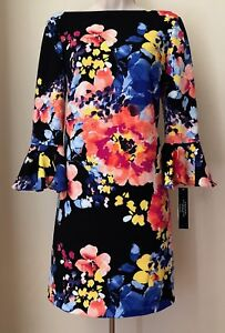 1311accae3ae Tahari by ASL Bell-Sleeve Floral Scuba Crepe Shift Dress 7220M610 ...
