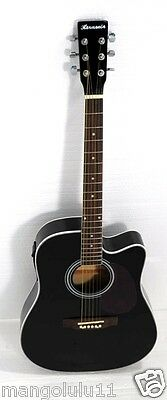 "Acoustic Electric Cutaway Guitar-41""steel string -4EQThin Body ( Buzzing )"