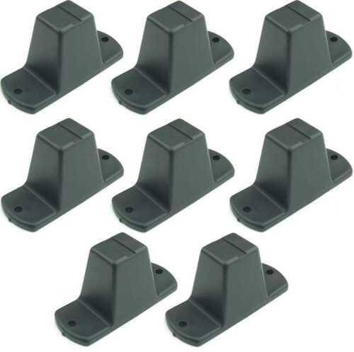 8 x Plastikfuß 85x33x43 mm Kunststofffuß Geräte-Gehäuse-Füße Geräte-Gehäuse-Fuß