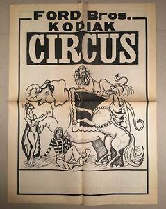 c-1970s-80s-Huge-FORD-BROS-BROTHERS-KODIAK-CIRCUS-Brochure-Leaflet-Flyer